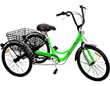 Komodo Cycling 24', 6-speed Adult Tricycle #7002 - Pacer II (85% Preassembled + 1 Year Warranty)
