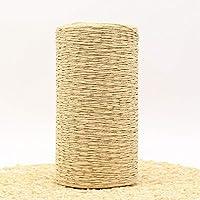 RIDS 400 g/Lote Hilo de Paja de Rafia Hilo de Ganchillo para Tejer DIY Sombrero de Paja Bolsos Cojines Cestas Material Hilo de Tejer a Mano, Caqui