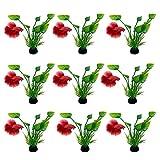 10 plantas decorativas para acuario, plantas artificiales, decoración de hierba, peces, plantas acuáticas, plantas de plástico, plantas para peces.