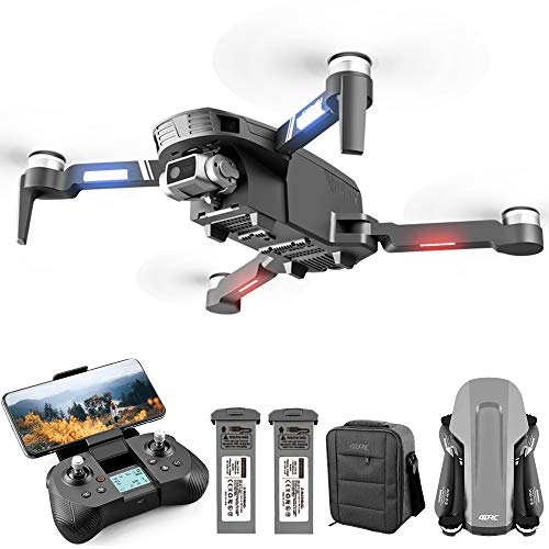4DRC F4 GPS Drone with 4K Camera for Adults, 2-Axis gimbal HD Anti-shake Cam Camera, quadcopter with 5G FPV Live Video,GPS Return Home,Brushless Motor,Follow Me, 60 Minutes Flight Time, Carrying Case