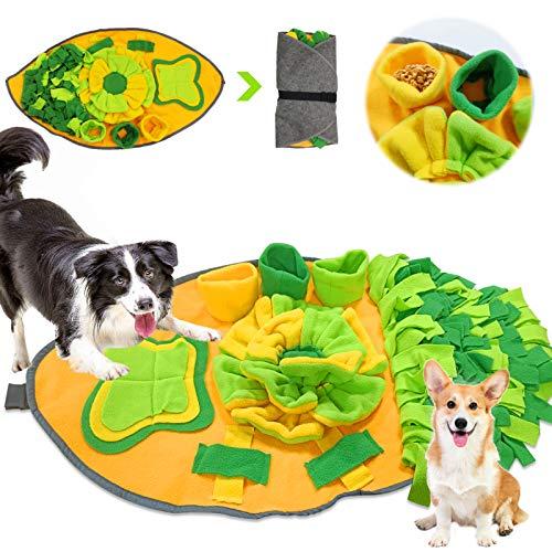 Hund Schnüffelteppich Intelligenzspielzeug,Hund Riechen Trainieren,Hunde Puzzle Matten,Schnüffelrasen Hundespielzeug Fördert Natürliche Nahrungssuche,Schnüffeldecke Hunde Riechen,Decke Schnüffeln