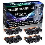 4-Pack Black Compatible Laser Printer Cartridge (High Yield) Replacement for Samsung MLT-D116L MLTD116L D116L Imaging Cartridge use for Samsung Xpress SL-M2885FW SL-M2875DW Printer