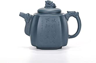 Teapot Purple Clay Tea Party Quartet Dragon Statue Ore Cargo Quartet Drink And Green Clay Pots By Hand Teapot JFYCUICAN (Color : Purple mud)