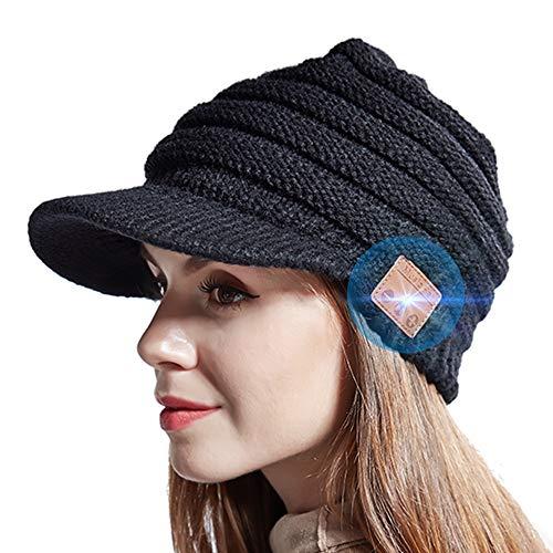 JYPS Kabelloser Bluetooth-Musik Hut Bluetooth Beanie Winter Strickmütze mit Eingebauter Wireless Kopfhörer Hand Frei Musik hören und telefonieren Unisex Hut für Skateboardfahren Wanderung Reise