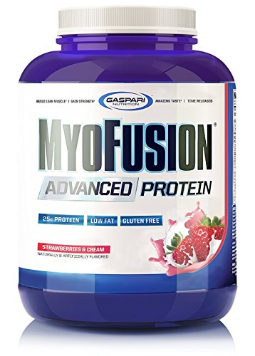 Gaspari Nutrition Myofusion Advanced Protein Strawberries and Cream Powder, 1814 g