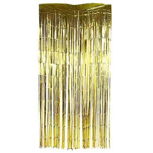 Zerodis Quaste slinger deurgordijn herbruikbaar folie Lametta voor feestjes bruiloft verjaardag decoratie