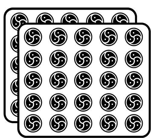 BDSM Emblem Adult Sticker for Scrapbooking, Calendars, Arts, Kids DIY Crafts, Album, Bullet Journals 50 Pack