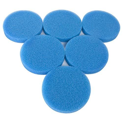 LTWHOME Compatible Bleu Mousse Médias Filter Pads Appropriés Convient pour Eheim Classic 2217/600 2616171(Pack de 6)