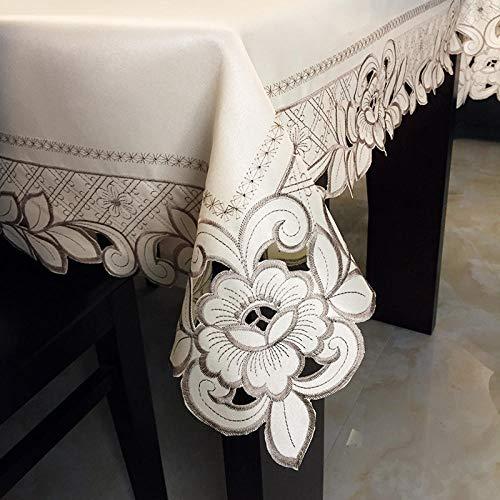 Onderhoudsvriendelijk, vuilafstotend, hoge temperatuurbestendigheid, keuze uit diverse kleuren en afmetingen, salontafel, eettafel, vierkant, rechthoekig, tafelkleed A_130 x 130 cm