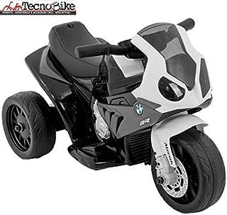 33f3cfa4f4 Moto Motocicletta Elettrica per Bambini BMW S 1000 RR Batteria 6V  Ricaricabile Triciclo 3 Ruote Fari