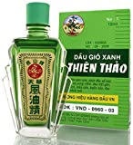 03 Boxes x 12ml Thien Thao Medicated Oil - Dau Gio Xanh - Cold Flu Cough Headache