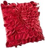 Brentwood Starburt Petals 16-Inch Pillow, Red