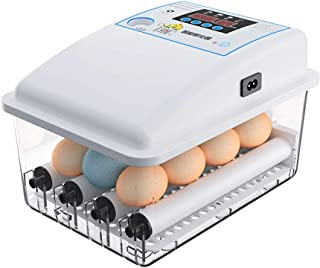 Mini Egg Incubator, Chicken Eggs for Hatching Incubator Egg Hatcher General Purpose Incubators Digital Automatic Hatcher, ...
