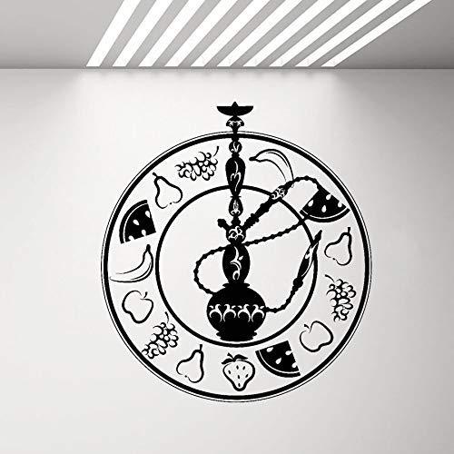 Obst Shisha Aufkleber Vinyl Wandaufkleber Shisha Aufkleber Wohnzimmer Bar Raucherzimmer Wanddekoration Aufkleber Home Dekoration Tapete 57 * 63cm