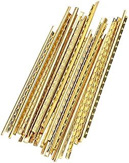 19Pcs Guitar Frets Wire, Brass Guitar Low Fretwires Set for Classical Acoustic Guitars