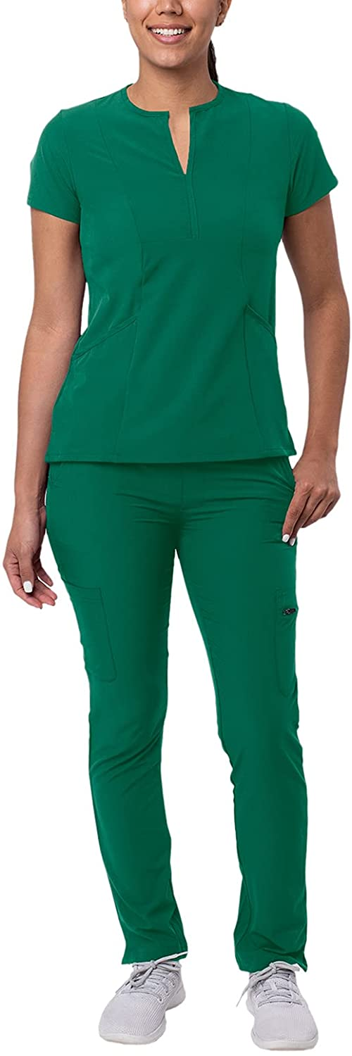 Recommended Max 57% OFF Adar Addition Go-Higher Scrub Set for - V-Neck Notched Women Scr
