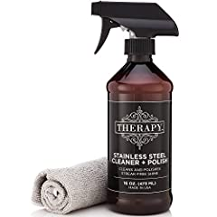 Unique blend of plant-based ingredients delivers superior results that clean and protect in one easy step Removes streaks, smudges, and fingerprints from all of your stainless steel surfaces Includes a 14 x 14 inch microfiber cloth to use with the 16...