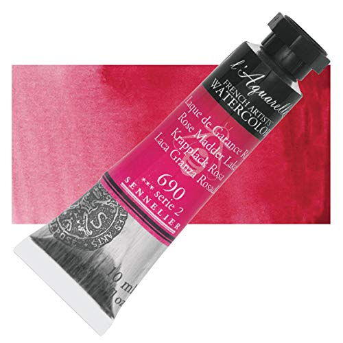 Sennelier l'Aquarelle Watercolor Tubes 10ml - Rose Madder Lake 10ml Tube
