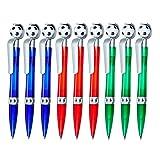 Kugelschreiber Goalie 9 Stück Mitgebsel Geschenk für Kindergeburtstag Fußball 3 Farben MIX