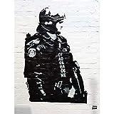 PHOTOGRAPHY GRAFFITI STREET BANKSY CARBON POLICE 18X24''