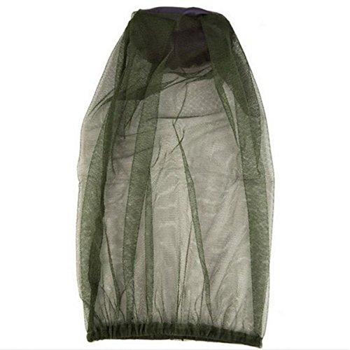 TININNA Filet Anti-Moustique Insectes Protection Tete Unisex Masque Camouflage Chasse Randonnée Masque Pêche Adapté à Tout Chapeau