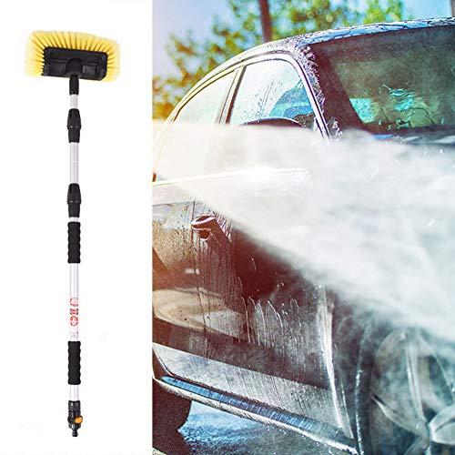 XYYZX Auto Waschbürste Mit Wasserzulauf, Weich, Mit Alu Teleskop Stiel, Für Pkw Lkw Suv, Teleskop Waschbürste Autowaschbürste / 2.5m