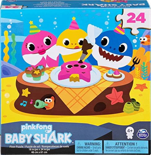 Cardinal Games 6053614 24pc Floor Puzzle Baby Shark Bodenpuzzle, 24 Teile, Mehrfarbig
