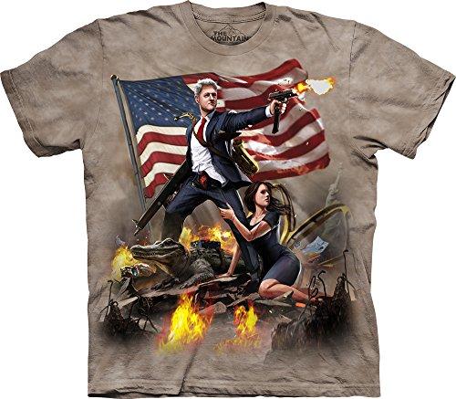 The Mountain Clinton Adult T-Shirt, Tan, Large