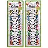 28 Pcs Hair Ties 12mm Ball Bubble Ponytail Holders Colorful Elastic Accessories for Kids Children Girls Women All Ages (Clear Assorted - Yellow/Azure/Clear/Pink/Lime/Purple/Orange)