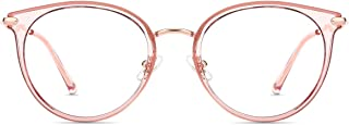 Firmoo Blue Light Blocking Computer Glasses, Blue Light Glasses Anti Eyestrain 100% UV Protection, Oversize Pink Frame Non...