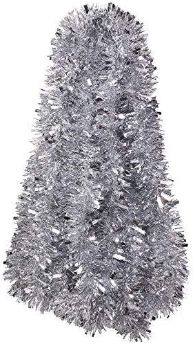 DIYASY 6M Silver Christmas Chunky Tinsel Garland for...