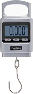50kg Bascula Colgante de Mano Dinamometro Digital Portable Peso de Maleta de Alta Precisión con Carcasa de Aluminio para Maletas, Pesca, Viaje