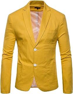 Amazon.es: Amarillo - Chaquetas de traje y americanas ...