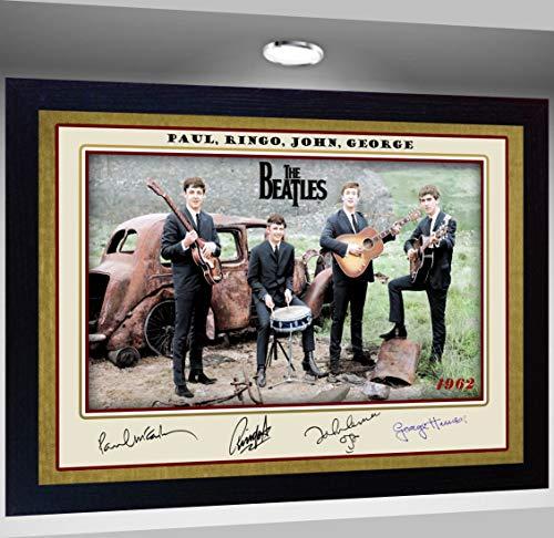 SGH SERVICES Gerahmtes Poster mit Autogramm The Beatles