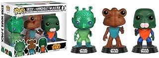 Funko- 3 Pack - Greedo, Hammerhead, and Walrus Man Star Wars Figurinas de Vinilo, Multicolor (0889698114875)