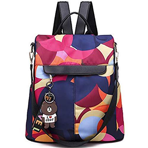 QXuan Women's Fashion Backpack Purse Quality Oxford Cloth Rucksack School Girls Anti-theft Daypack Shoulder Bag (C7)