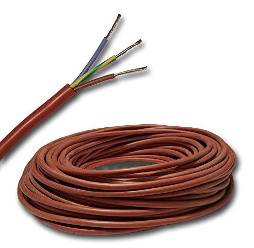 SIHF-J - Cable de silicona para sauna (3 x 2,5 mm², 100...