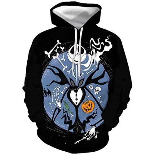 513LkgFpwWL. SS500  - Chaos World Men's Nightmare Before Christmas Hoodie Realistic 3D Print Hooded Casual Pullover