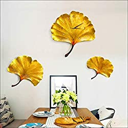 Creative Maple Leaf Clock Modern Simple Wall Clock Household Living Room Watch Wall Clock Personality Art Decoration Quartz Clock