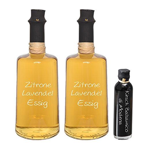 Wajos Zitrone Lavendel Crema Essig 2 x 0,25 l + Oliv & Co. Kirsch-Balsamico 40ml gratis dazu