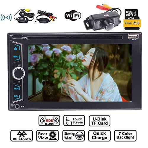 EinCar Wince Double Din Dash Head Unit 6.2 pouces st¨¦r¨¦o voiture lecteur DVD Autoradio Bluetooth Radio Lecteur MP3 Syst¨¨me multim¨¦dia de soutien du syst¨¨me de navigation GPS CAM-USB SD avec