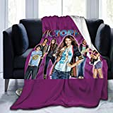 Colorful Wind Vic-Tori-OUS Ultra Soft Throw Blanket Flannel Fleece All Season Light Weight Sofa Couch Living Room/Bedroom Warm Blanket,Black,50'' X40