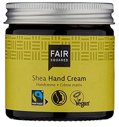 FAIR SQUARED Hand Creme Sensitive Shea 50 ml Handcreme - Handpflege für empfindliche Haut - mit Fairtrade-Sheabutter - vegane Naturkosmetik - Zero Waste im Mehrweg-Glastiegel