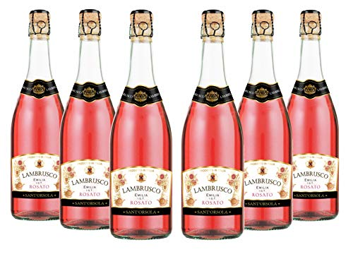 Sant'Orsola Lambrusco Emilia IGT Vino Rosè Seco Italiano - 6 Botellas X 750ml