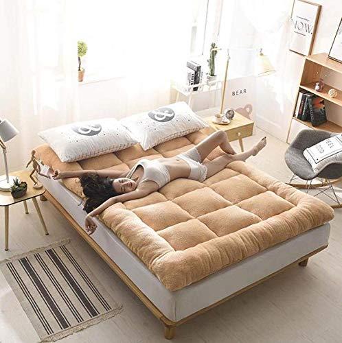 YOLL Colchón Reversible Tatami Japonés Confort futón 90 * 200cm~180 * 200cm Enrollable Funda antialérgica Cubre colchón Cama Plegable Cubre colchón Colchón Portátil Suelo/Yellow/Kin