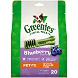 GREENIES Petite Natural Dog Dental Care Chews Oral Health Dog Treats Blueberry Flavor, 12 oz. Pack (20 Treats)