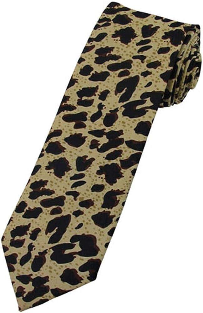 Jacob Alexander Boys' Prep Leopard Animal Print Neck Tie