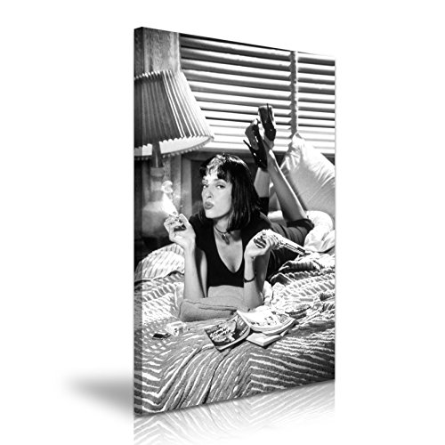 Mia Wallace Pulp Fiction Classic Film Leinwand Wandbild Kunstdruck Bild 50x 76cm