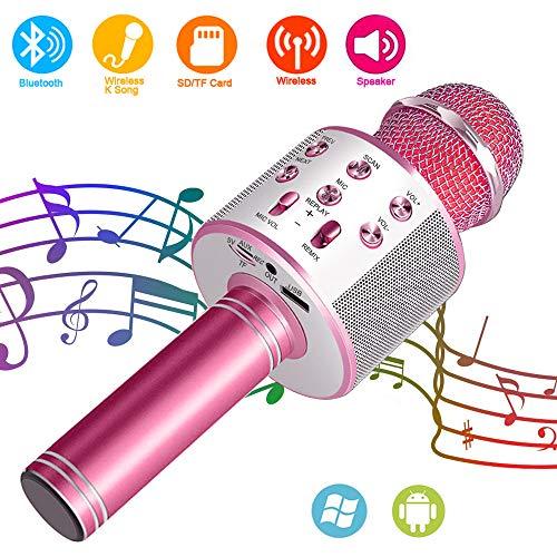 Suntop Micrófono Karaoke Bluetooth, Micrófono Inalámbrico...