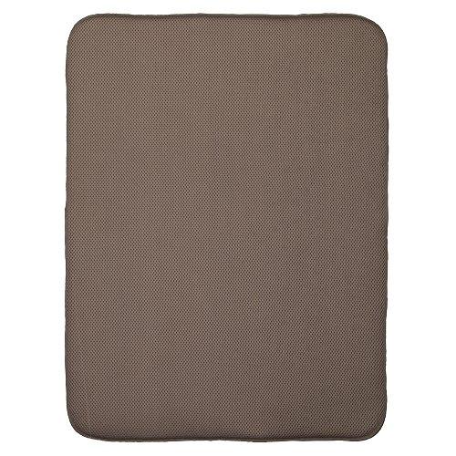 InterDesign iDry Kitchen Mat, 24 x 18 - Extra Large, Mocha/Ivory